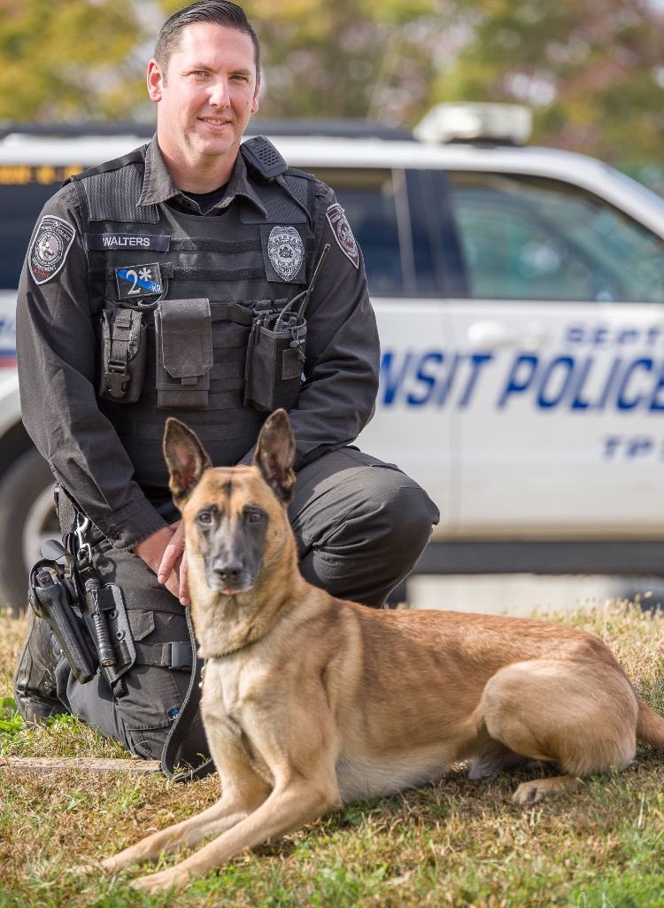 Vice President Officer Jason Walters & K9 Jase